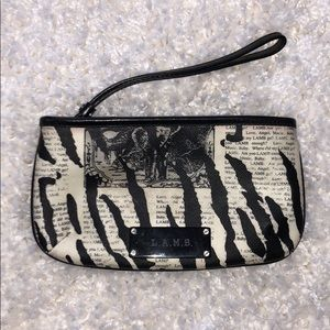 "L.A.M.B ""Mandalay"" Newspaper Wristlet"